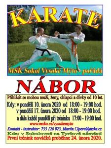 Nábor karate 2020.I