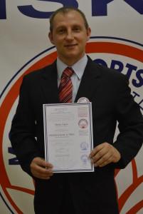 2019.11 MM Praha_10 - Čipera Martin prodloužení licence trenéra karate II. třídy